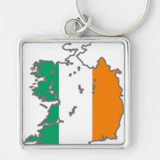 Flag Irish  Lucky Map Country Banner Colors Keychain