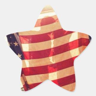 Flag Love Star Stickers