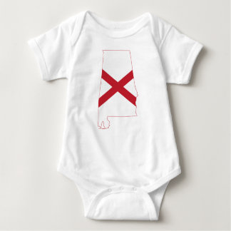 Flag Map Of Alabama Baby Bodysuit