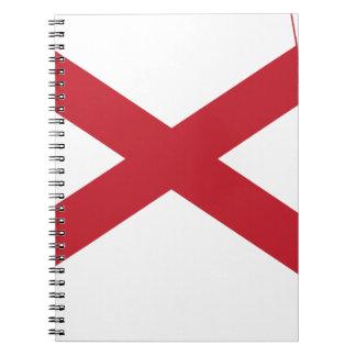 Flag Map Of Alabama Notebook