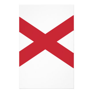 Flag Map Of Alabama Stationery