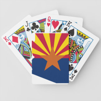 Flag Map Of Arizona Bicycle Playing Cards