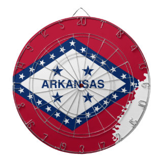Flag Map Of Arkansas Dartboard