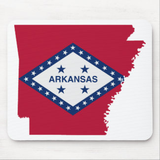 Flag Map Of Arkansas Mouse Pad