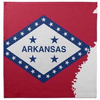 Flag Map Of Arkansas Napkin