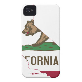 Flag Map Of California iPhone 4 Cover