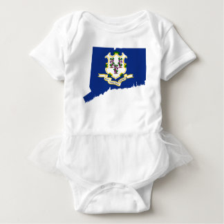 Flag Map Of Connecticut Baby Bodysuit