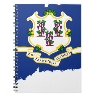 Flag Map Of Connecticut Notebook