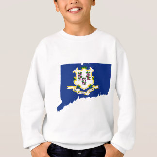 Flag Map Of Connecticut Sweatshirt