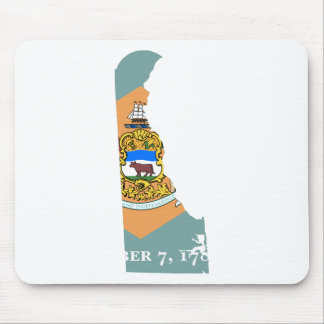 Flag Map Of Delaware Mouse Pad