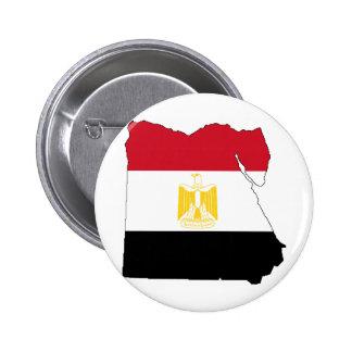 Flag/Map of Egypt 6 Cm Round Badge