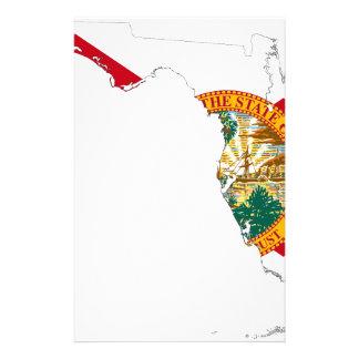 Flag Map Of Florida Stationery