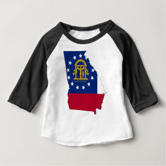 Flag Map Of Georgia Baby T-Shirt