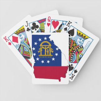 Flag Map Of Georgia Bicycle Playing Cards