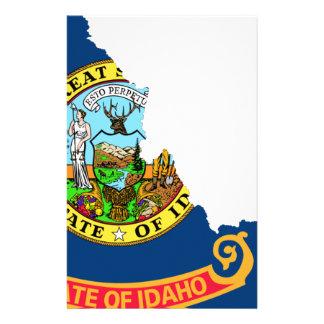 Flag Map Of Idaho Stationery