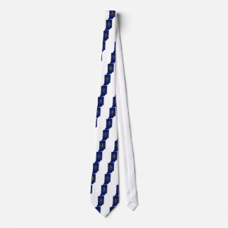 Flag Map Of Indiana Tie