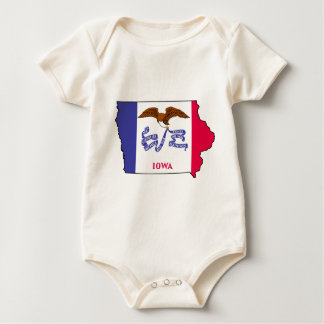 Flag Map Of Iowa Baby Bodysuit