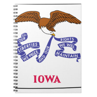 Flag Map Of Iowa Notebook