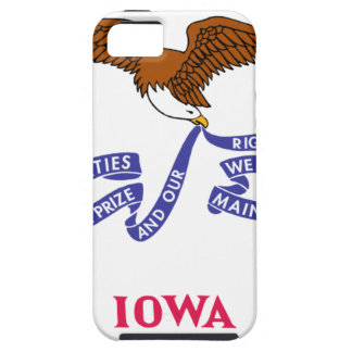 Flag Map Of Iowa Tough iPhone 5 Case