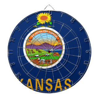 Flag Map Of Kansas Dartboard