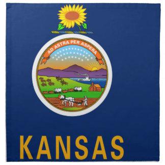 Flag Map Of Kansas Napkin