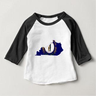 Flag Map Of Kentucky Baby T-Shirt