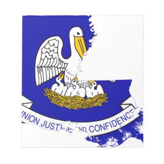 Flag Map Of Louisiana Notepad