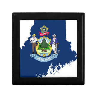Flag Map Of Maine Gift Box