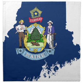 Flag Map Of Maine Napkin
