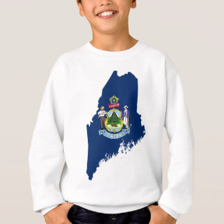 Flag Map Of Maine Sweatshirt