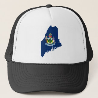Flag Map Of Maine Trucker Hat