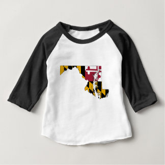 Flag Map Of Maryland Baby T-Shirt
