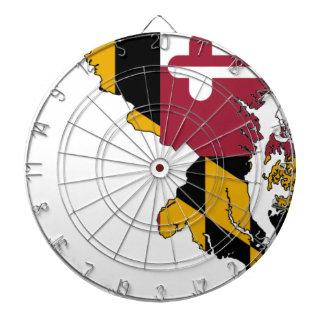 Flag Map Of Maryland Dartboard