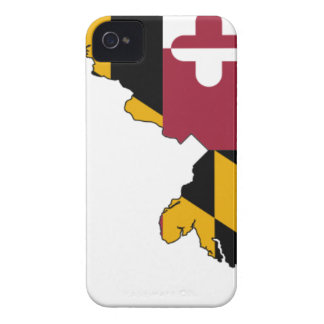 Flag Map Of Maryland iPhone 4 Case-Mate Case