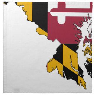 Flag Map Of Maryland Napkin
