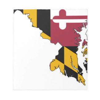 Flag Map Of Maryland Notepad