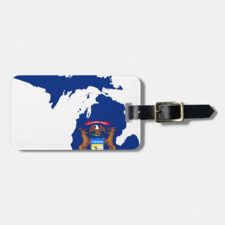 Flag Map Of Michigan Luggage Tag