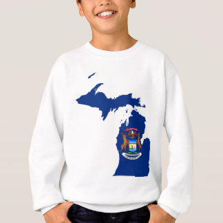 Flag Map Of Michigan Sweatshirt