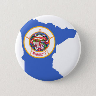 Flag Map Of Minnesota 6 Cm Round Badge