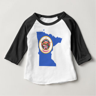 Flag Map Of Minnesota Baby T-Shirt