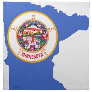Flag Map Of Minnesota Napkin