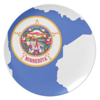 Flag Map Of Minnesota Plate