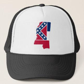 Flag Map Of Mississippi Trucker Hat
