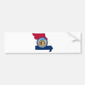 Flag Map Of Missouri Bumper Sticker