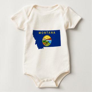 Flag Map Of Montana Baby Bodysuit