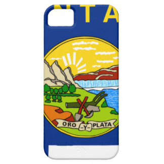 Flag Map Of Montana iPhone 5 Case