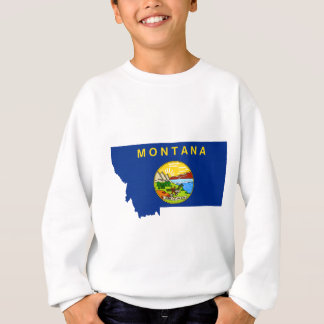 Flag Map Of Montana Sweatshirt