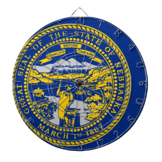 Flag Map Of Nebraska Dartboard