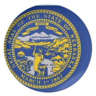 Flag Map Of Nebraska Plate