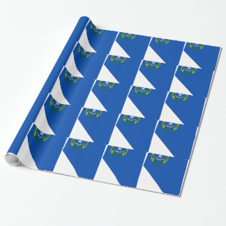 Flag Map Of Nevada Wrapping Paper